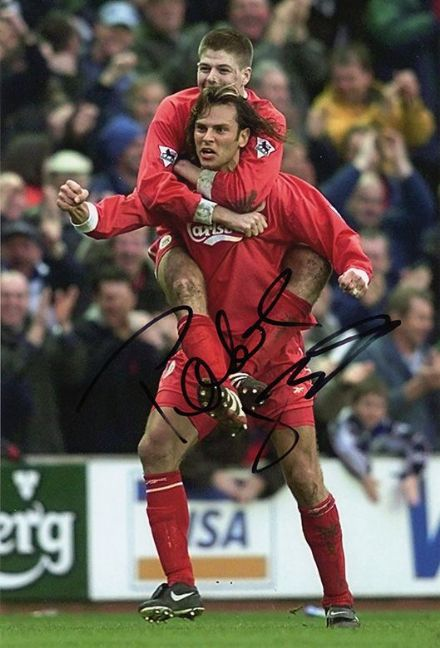 Patrik Berger, Liverpool, Czech Republic, signed 12x8 inch photo.